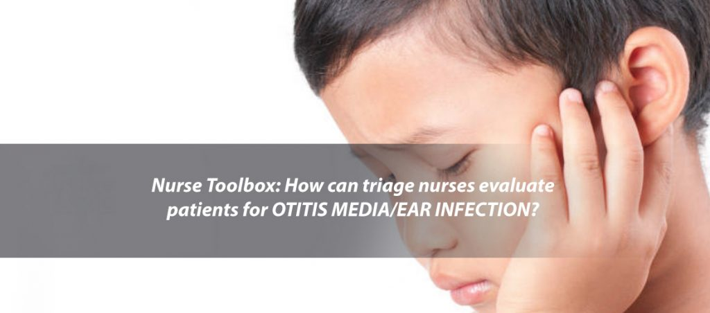 Child with symptoms of otitis media ear infection